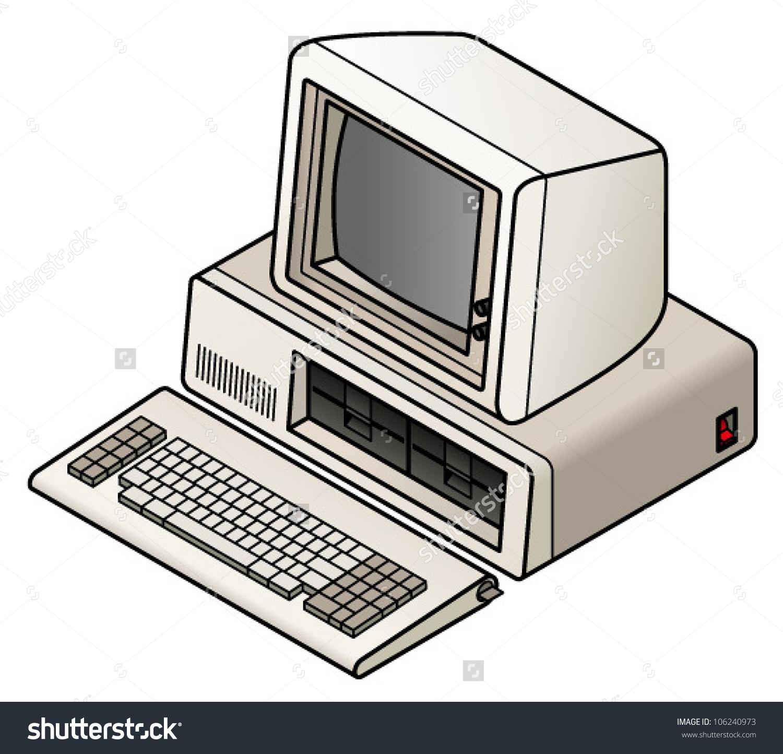 Vintage Computer Clipart.