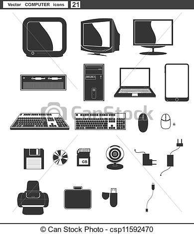 Vectors of Computer Technician Holding Laptop Cable Retro.