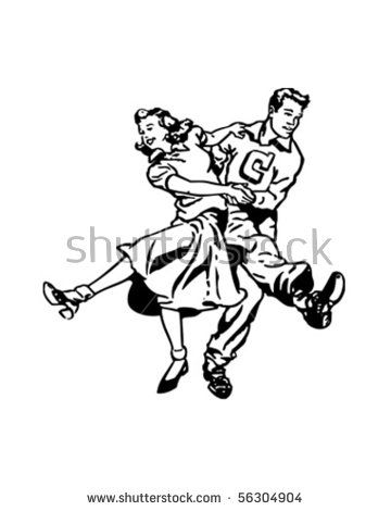 Retro Dance Stock Images, Royalty.