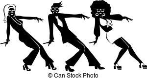 Vector Illustration of Retro dance clip.