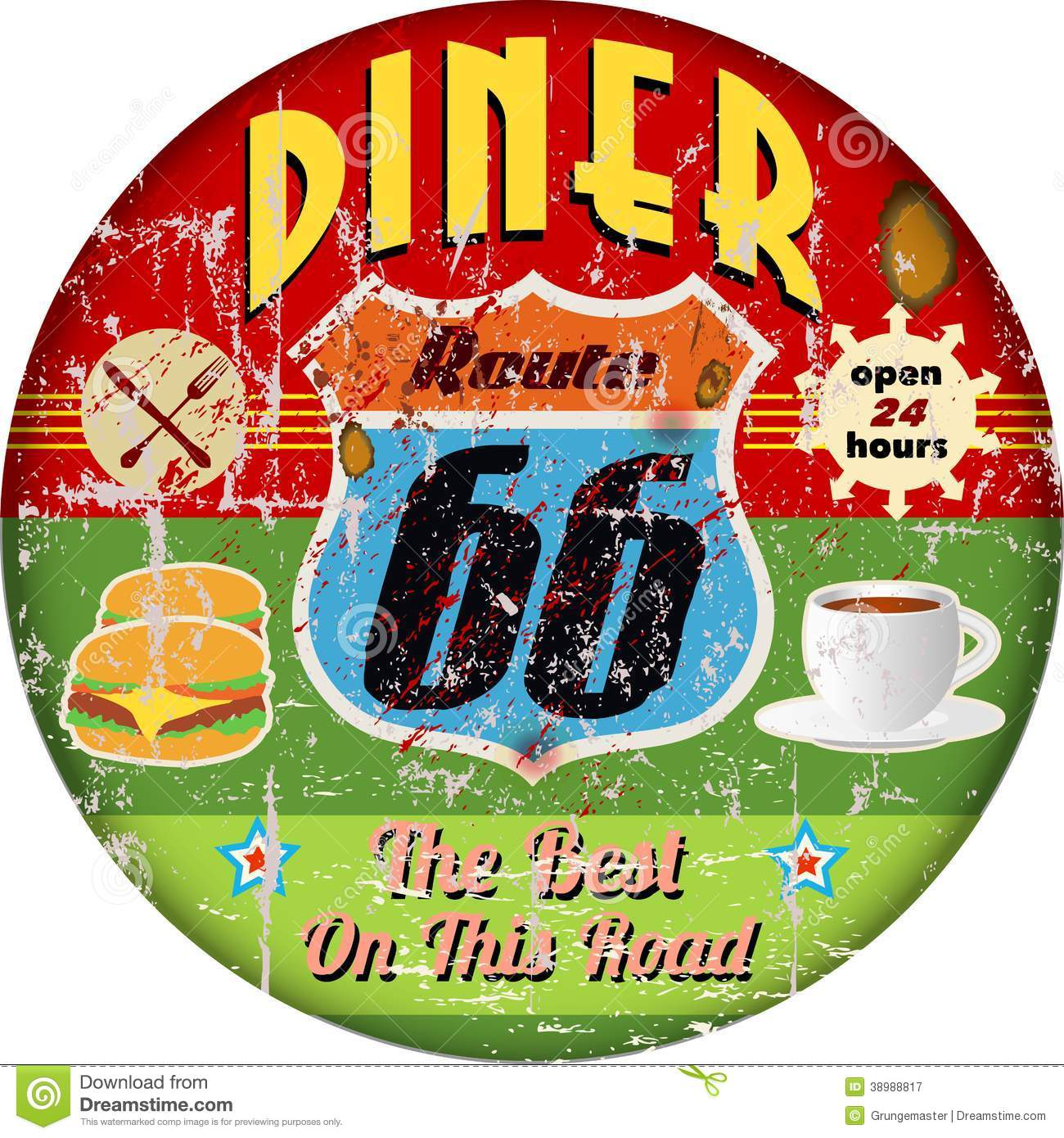 Retro Diner Clipart Free.