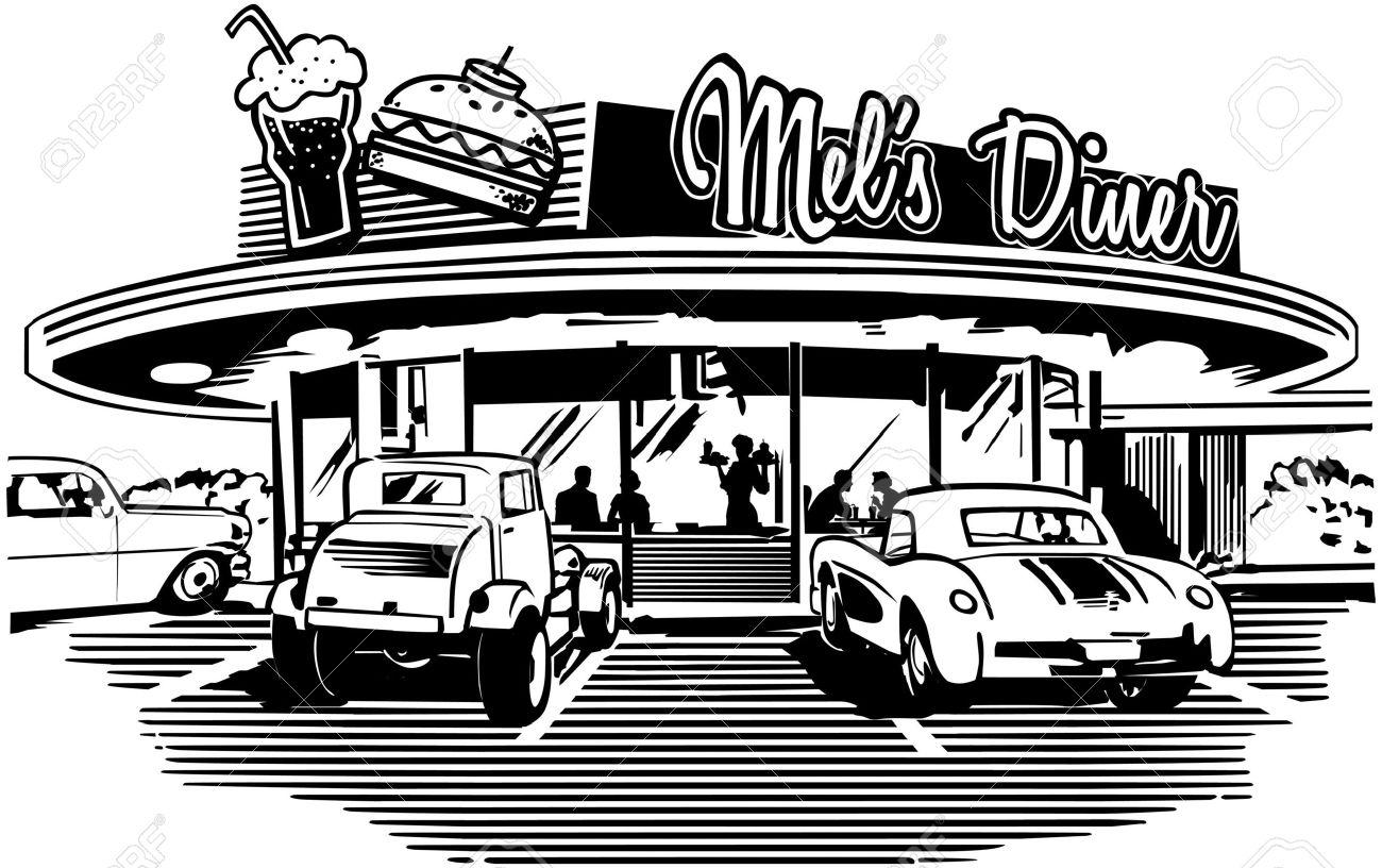Retro Diner Clipart.