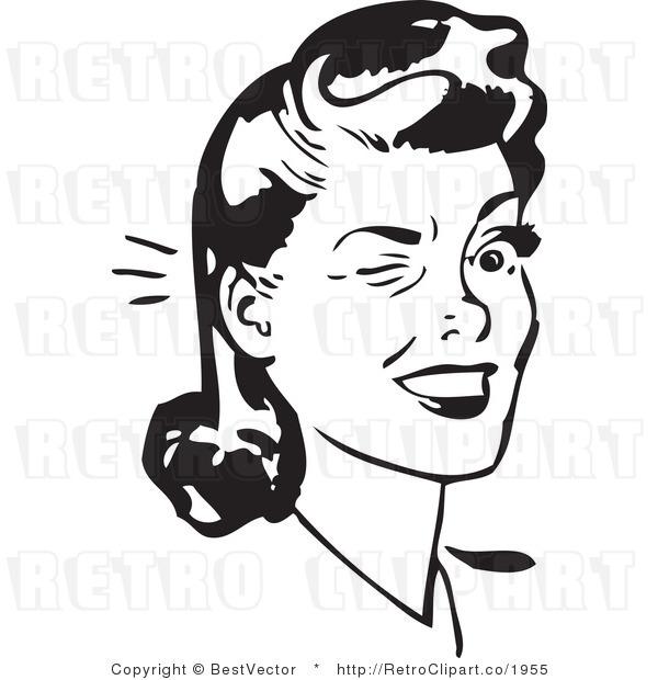 Retro Funny Woman Clipart.
