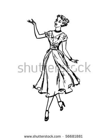 50s Housewife Stock Images, Royalty.