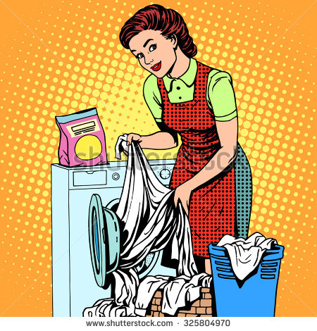 Retro Housewife Stock Images, Royalty.