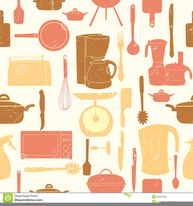 Retro Kitchen Clipart.