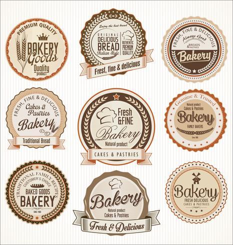 bakery retro labels.