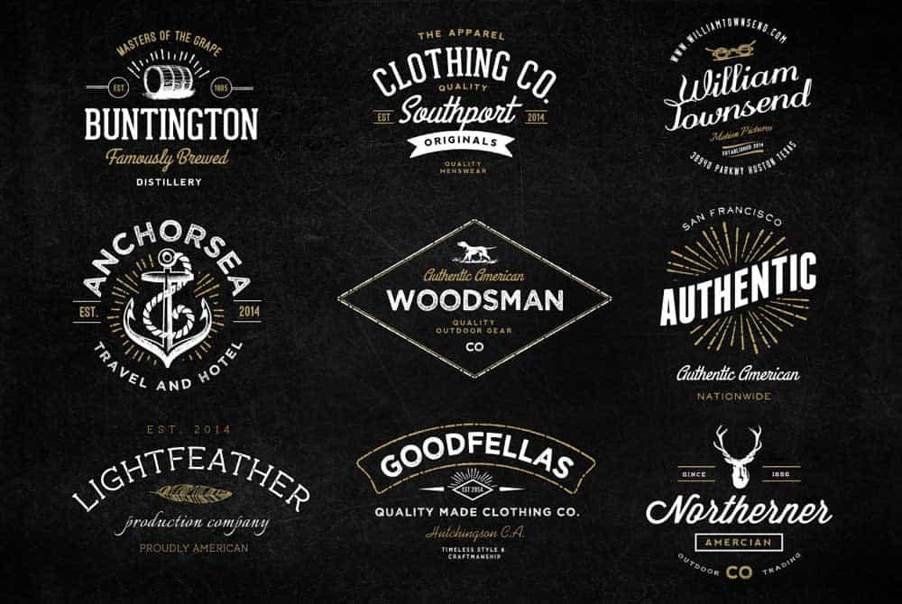 Vintage Logo Design Inspiration & Examples Of Retro Logos.
