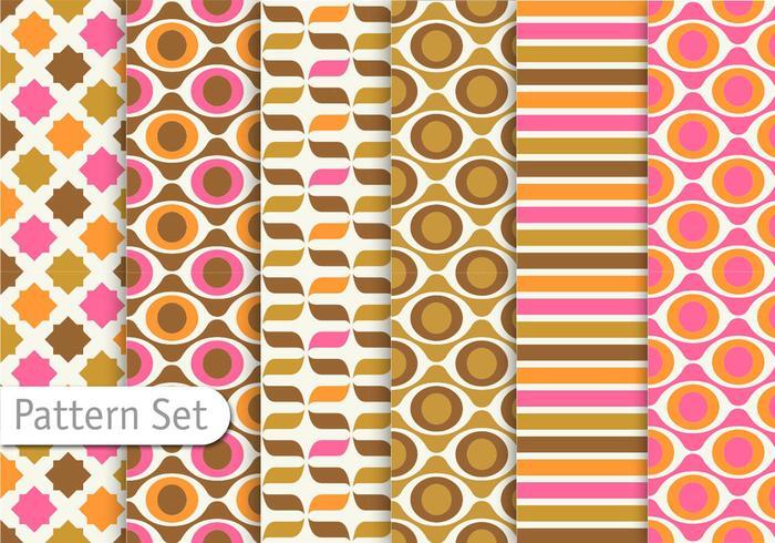 Colorful Retro Pattern design.
