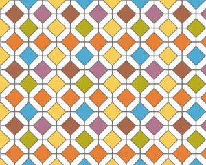 stock vector a multicolored retro floor tile vector pattern.