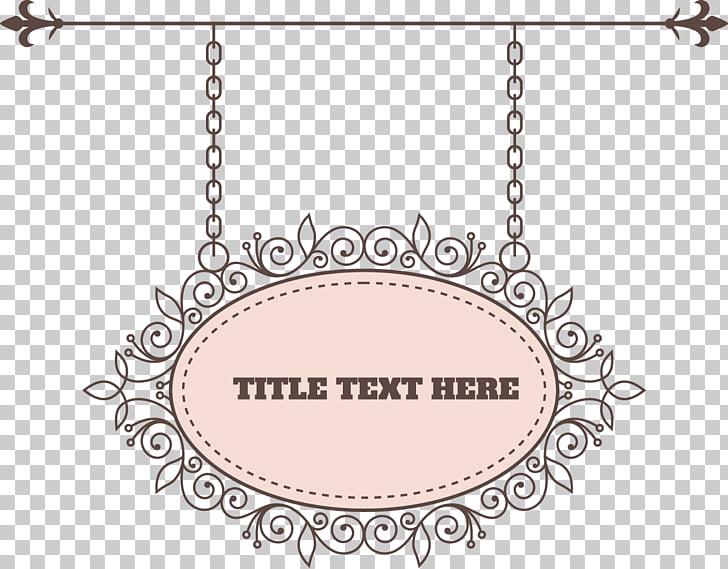 Pattern, elegant retro pattern tag, hanging black ornate.