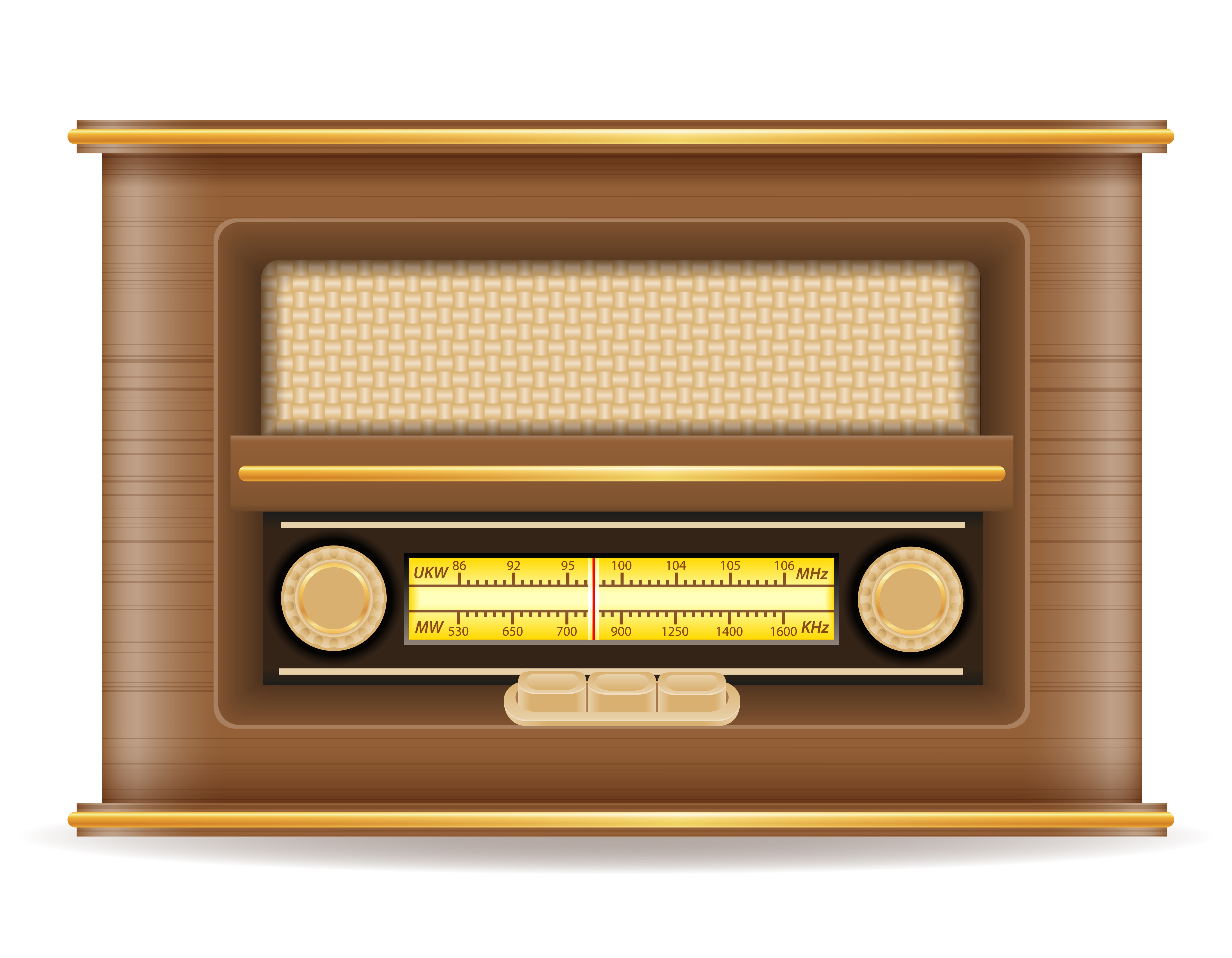 radio old retro vintage icon stock vector illustration.