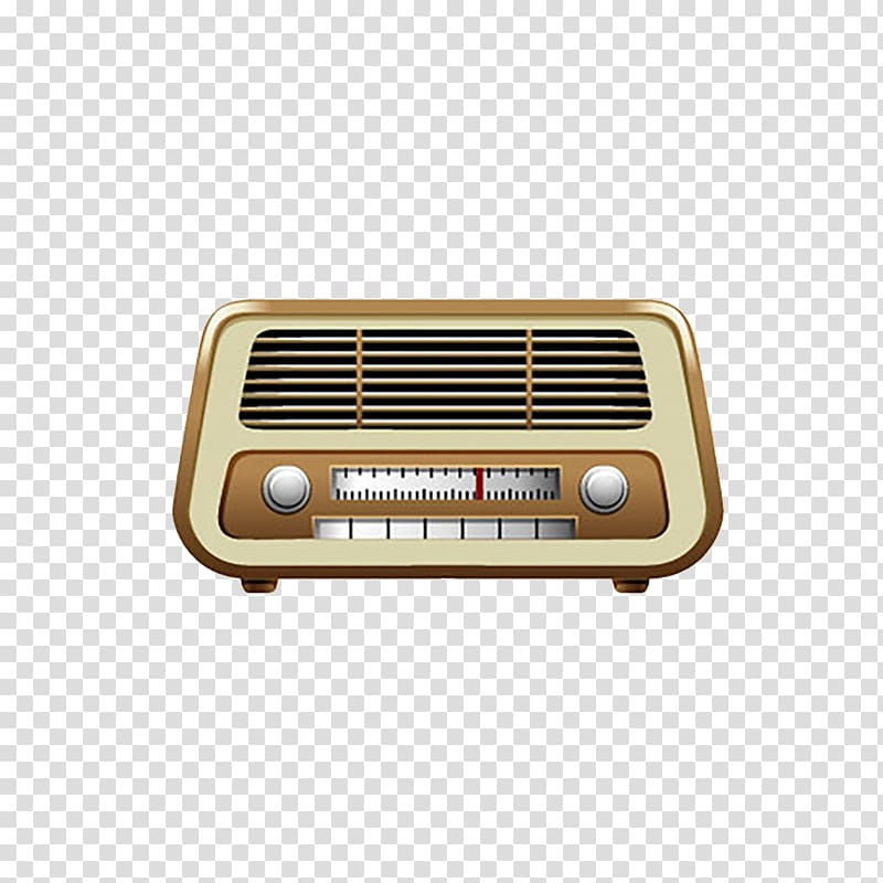 Vintage clothing Illustration, Retro radio transparent.