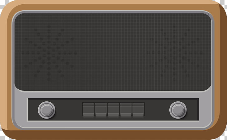 Radio Drawing, Retro radio PNG clipart.