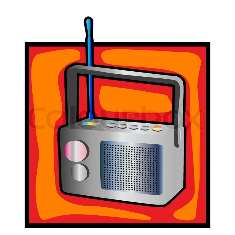 retro radio clip art on a.