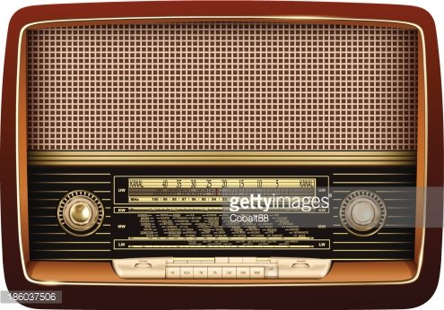 Retro Radio premium clipart.