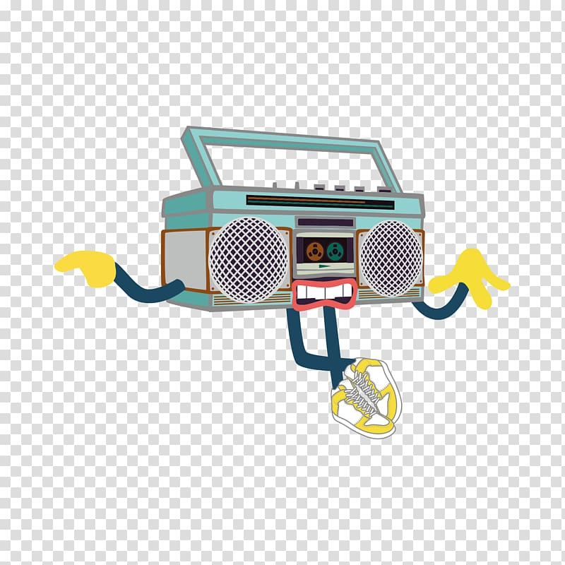 Car Technology Yellow, Retro Radio villain transparent.