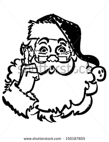 Vintage Santa Claus Stock Images, Royalty.