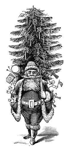 Retro Christmas Clip Art.