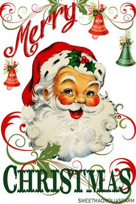 Sweet Magnolias Farm clip art Christmas Santa image for.