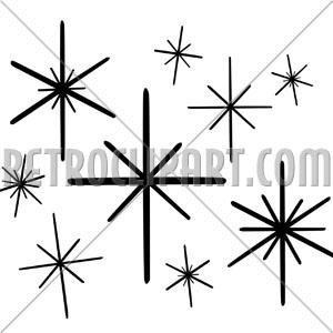 Retro Stars 1, RetroClipArt.com.