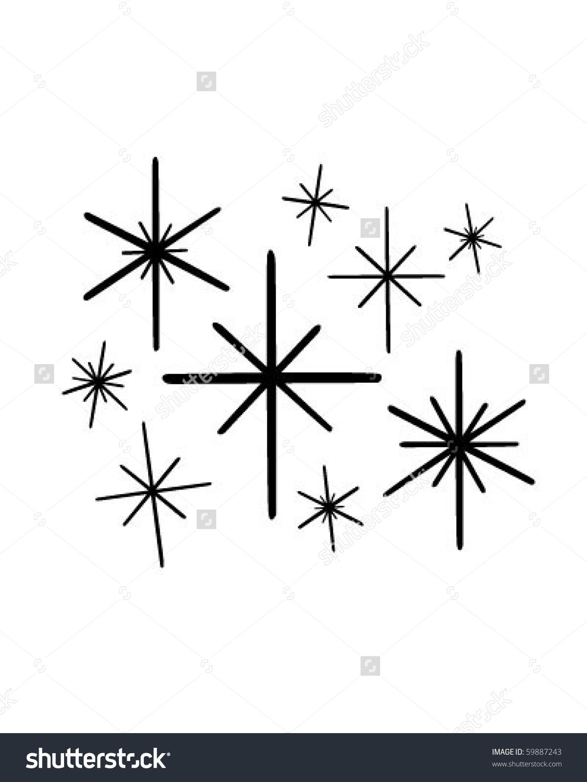 Retro Stars 1 Clip Art Stock Vector 59887243.
