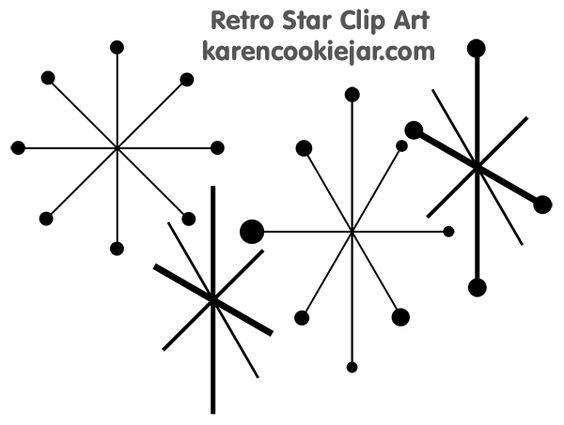 retro star clipart http://karencookiejar.com/2012/04/retro.