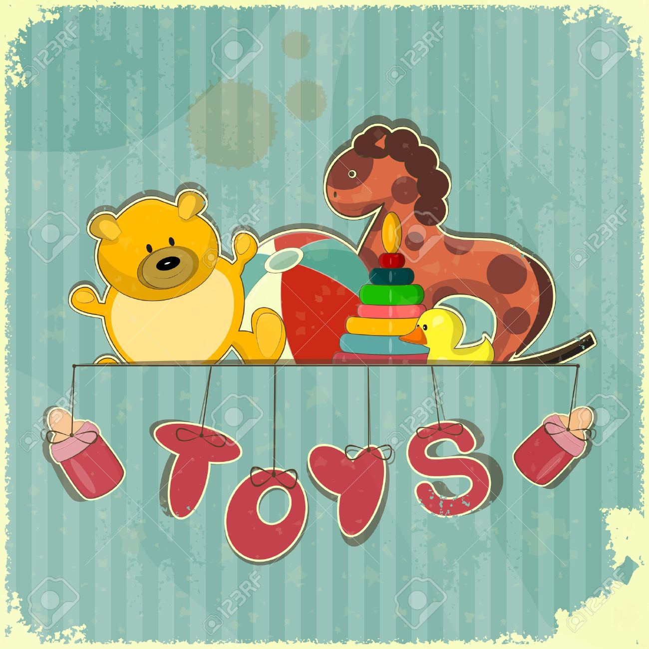 38,423 Vintage Toys Stock Vector Illustration And Royalty Free.