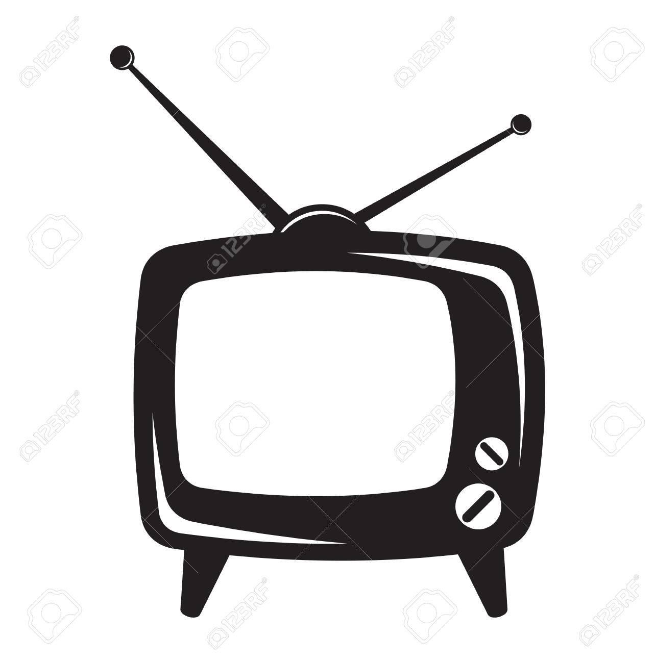 Retro tv clipart 1 » Clipart Station.