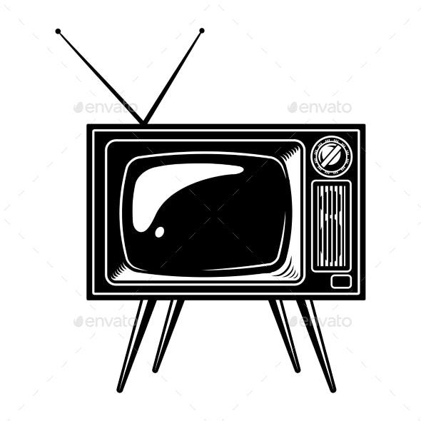 Retro TV Set Concept.