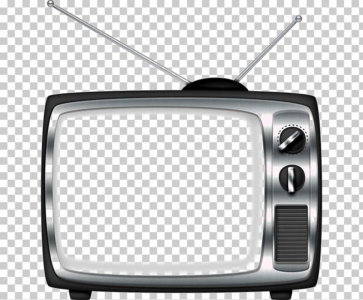 Television , Retro TV deductible elements, gray and black.