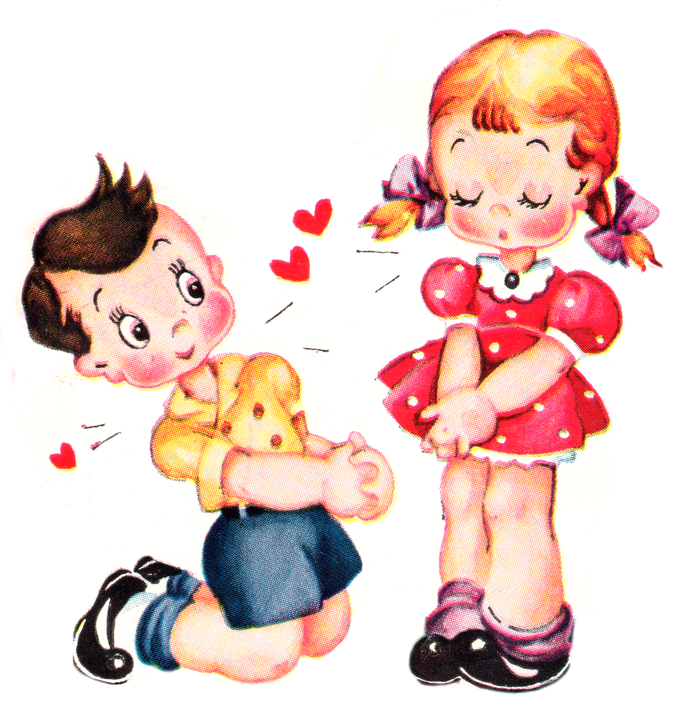 Cute Vintage Valentines Day Clip Art.