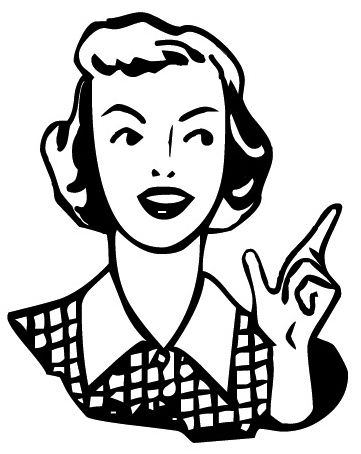 woman black and white clipart free #37.