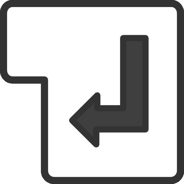 Showing post & media for Enter key symbol.