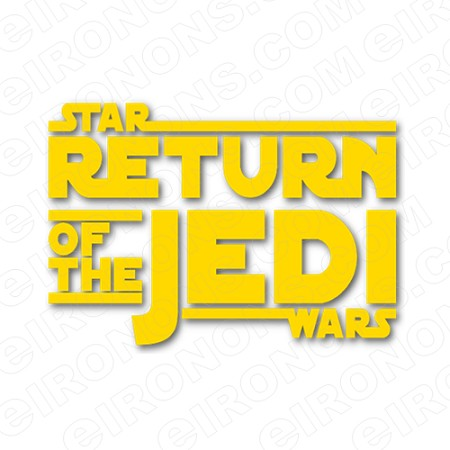 STAR WARS THE RETURN OF THE JEDI LOGO MOVIE T.
