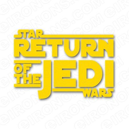 STAR WARS THE RETURN OF THE JEDI LOGO MOVIE T.