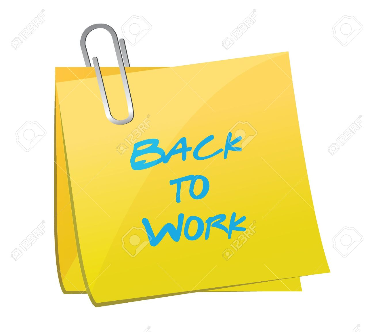 Return To Work Clipart.