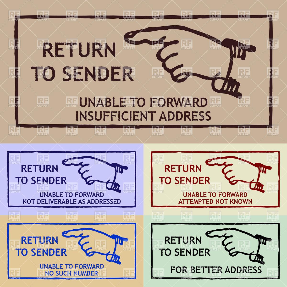 Return To Sender Clipart.