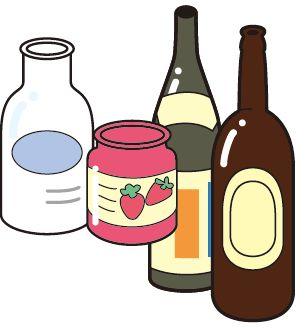 """Cans, bottles, PET bottles""""."""