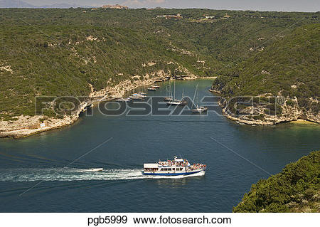Stock Photograph of Bonifacio. Most southerly town in Corsica.