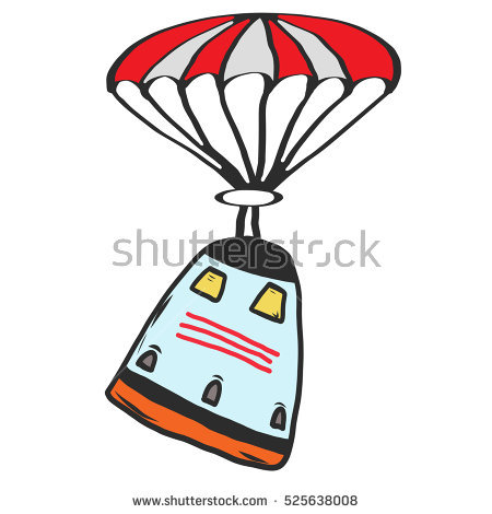 Cartoon Space Capsule Returning Earth Via Stock Vector 525638041.