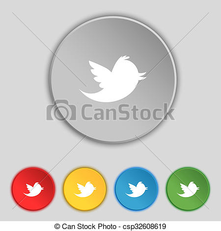 Clipart of Social media, messages twitter retweet icon sign.