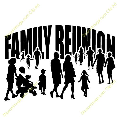 Family Reunion Printable Clipart.