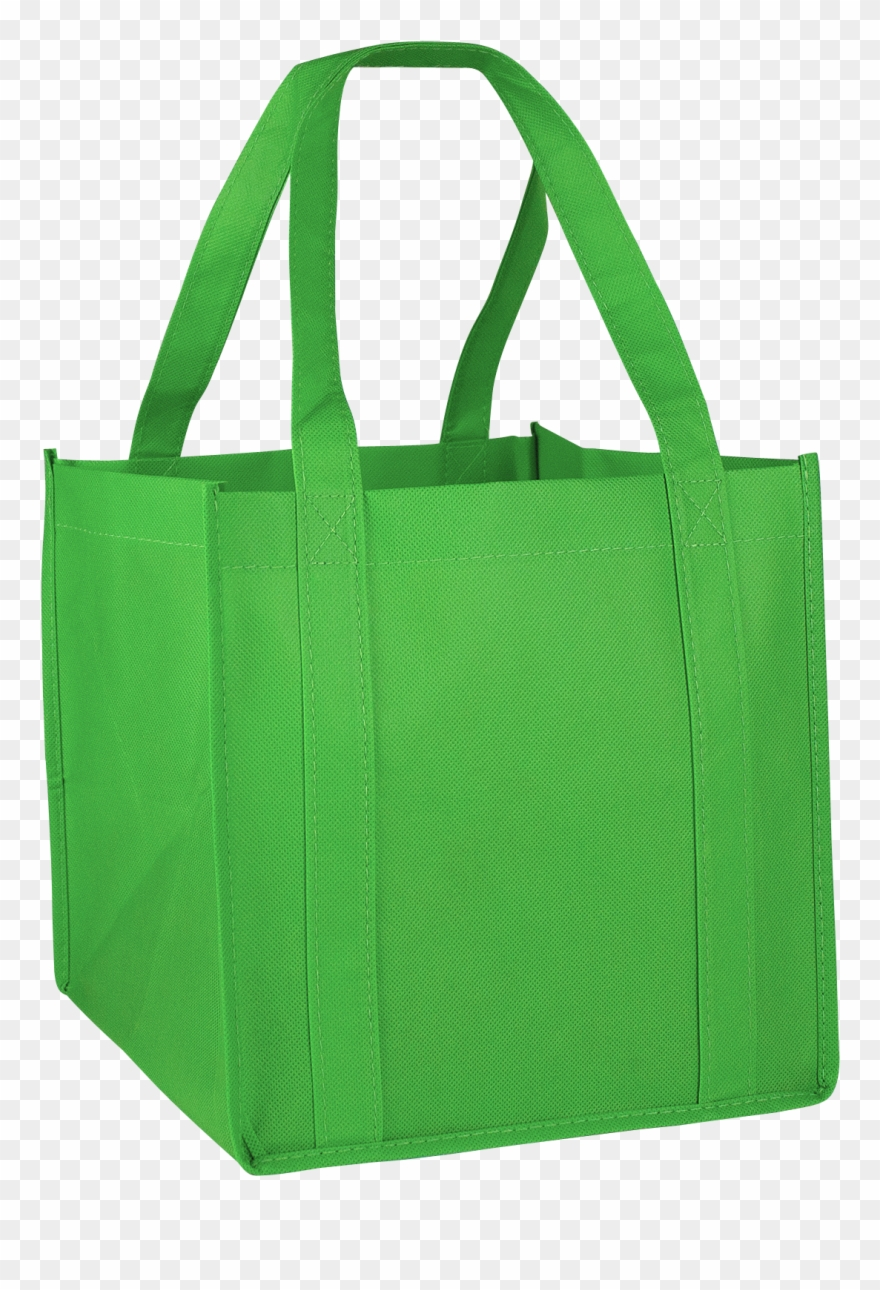Lime Green Cube Grocery Tote.