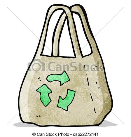 EPS Vector of reusable bag cartoon csp22272441.