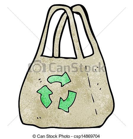 Vector Clipart of reusable bag cartoon csp14869704.