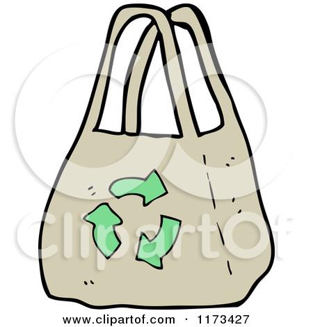 Cartoon of a Reusable Shopping Bag.