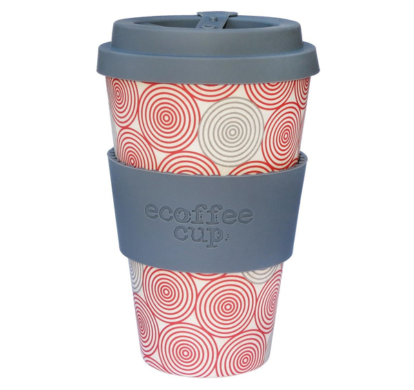 Ecoffee Cup Reusable Bamboo Travel Cup 0.4l / 14 oz..