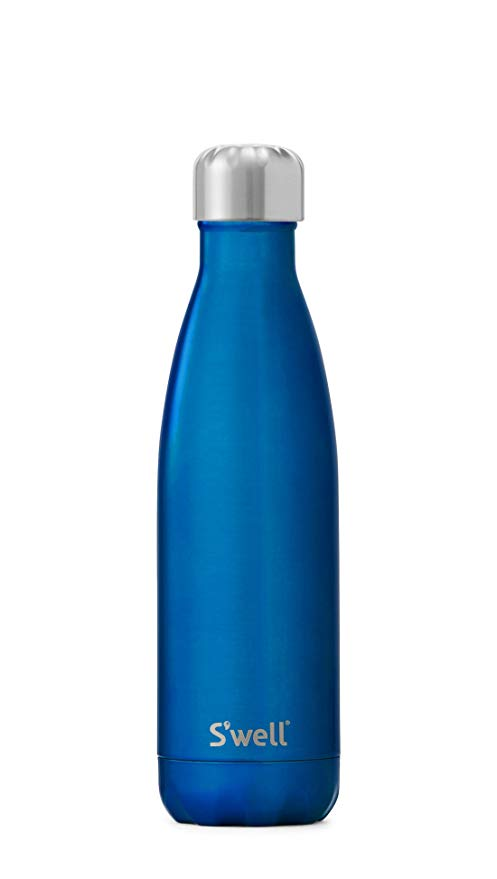 S\'well Vacuum Insulated Stainless Steel Water Bottle, 17 oz, Ocean Blue.