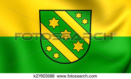 Stock Illustration of Flag of Reutlingen Kreis, Germany. k27603588.